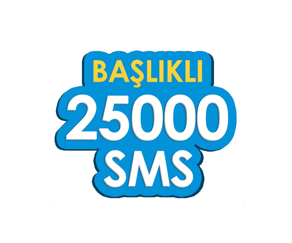 25.000 SMS - Toplu SMS Paketi