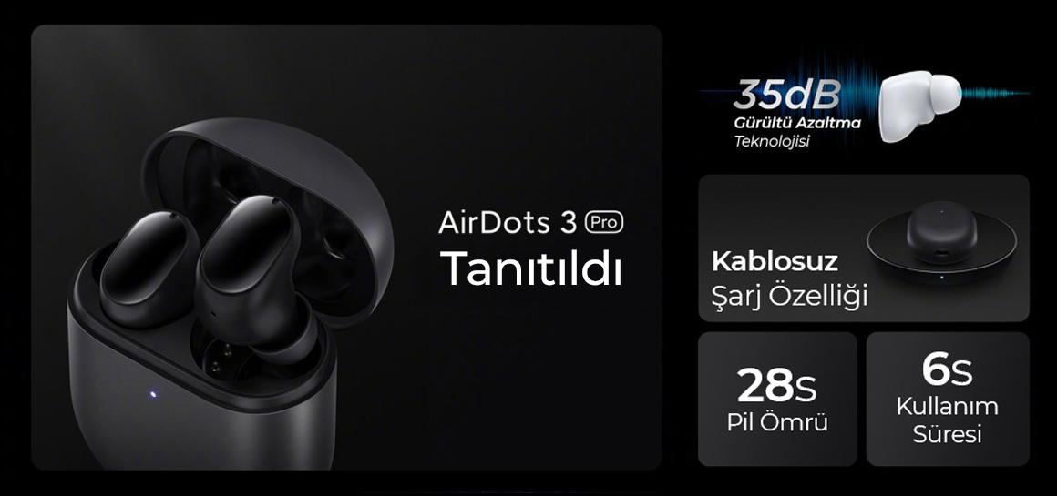 Redmi AirDots 3 Pro Tanıtıldı! Teknik Özellikleri ve Fiyatı