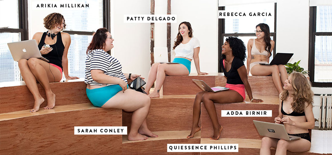 Teknoloji Sektöründeki Kadınlar ile Kadın iç giyim reklamı